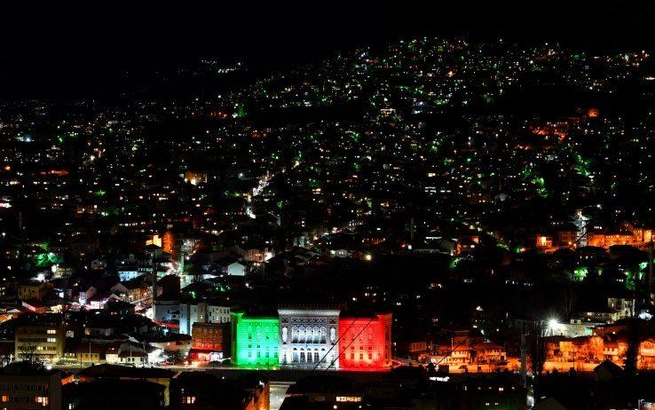 Sarajevo - solidarity - solidarietà Italia - Italy - Coronavirus - Black Platinum Gold