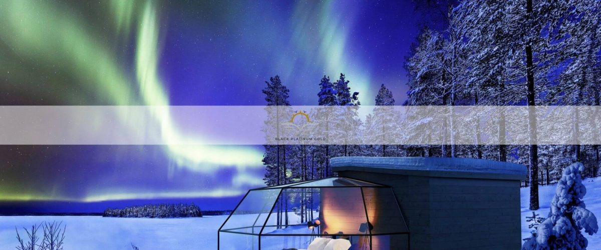 Finnish Lapland in Style: Northern Lights from a Luxury Glass Igloo | Black Platinum Gold