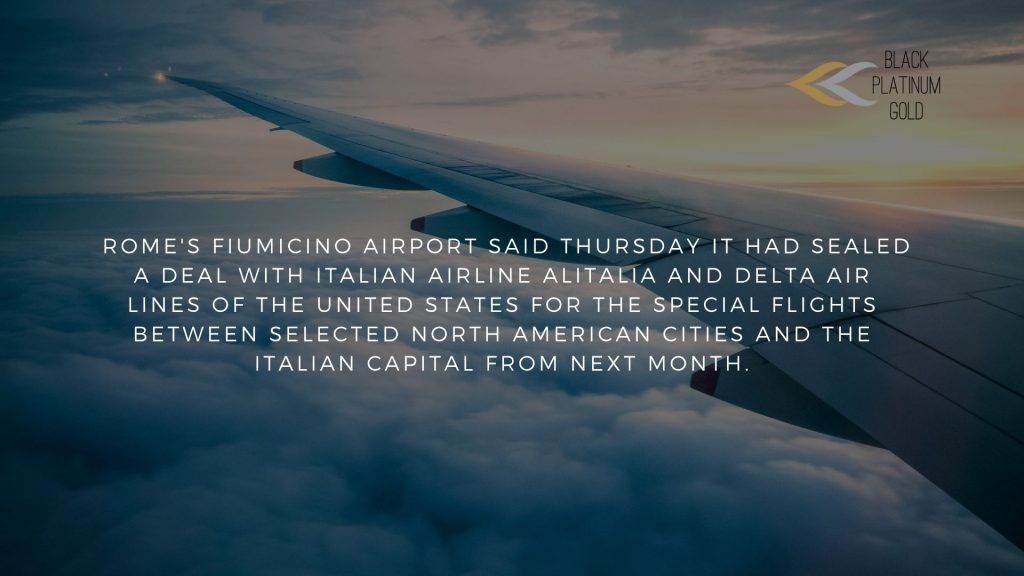 The first Europe-US 'virus-free' flights In Italy..., black platinum gold(1)