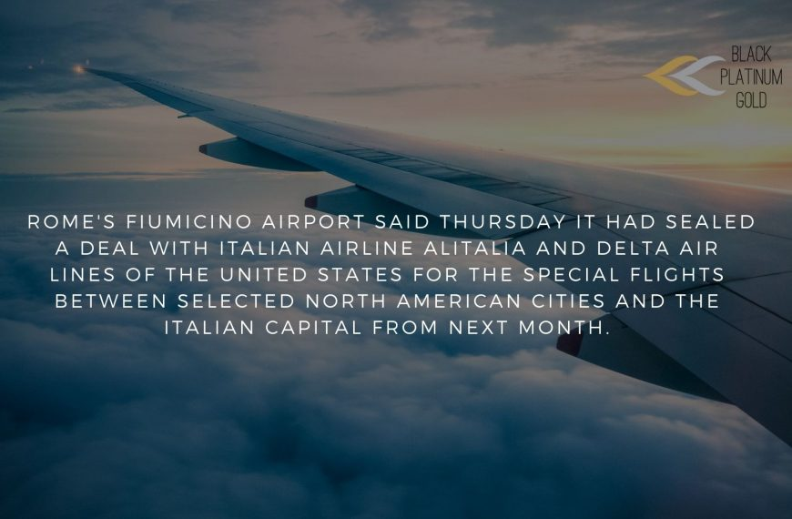 The first Europe-US 'virus-free' flights? In Italy…