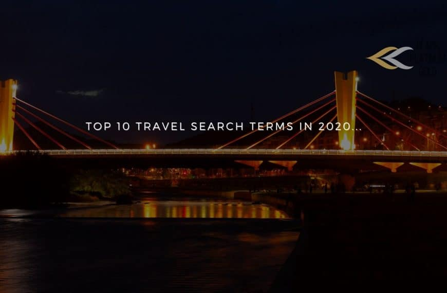 Top 10 travel search terms in 2020 for Europeans!