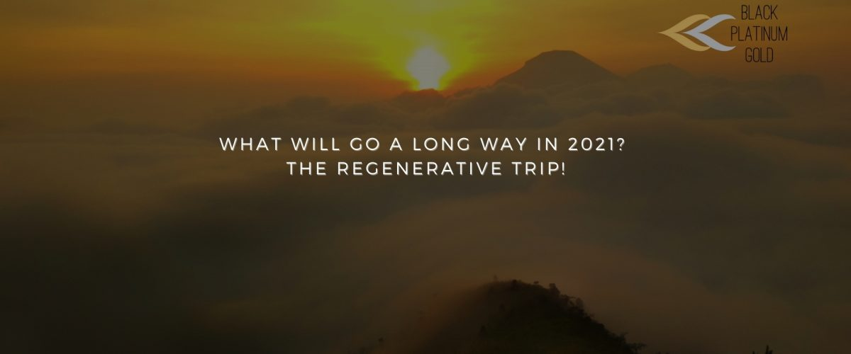 What will go a long way in 2021 The regenerative trip!, black platinum gold