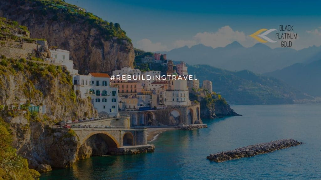 Italy Vaccines for all tourism workers #rebuildingtravel, black platinum gold(1)