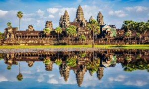 Angkor Wat - Siem Reap, Cambodia - Black Platinum Gold