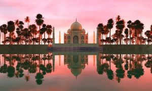Taj Mahal – Agra, India – Black Platinum Gold