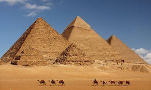 Pyramids of Giza – Giza, Egypt – Black Platinum Gold