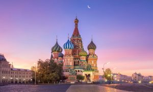 St. Basil's Cathedral – Moscow, Russia – Black Platinum Gold