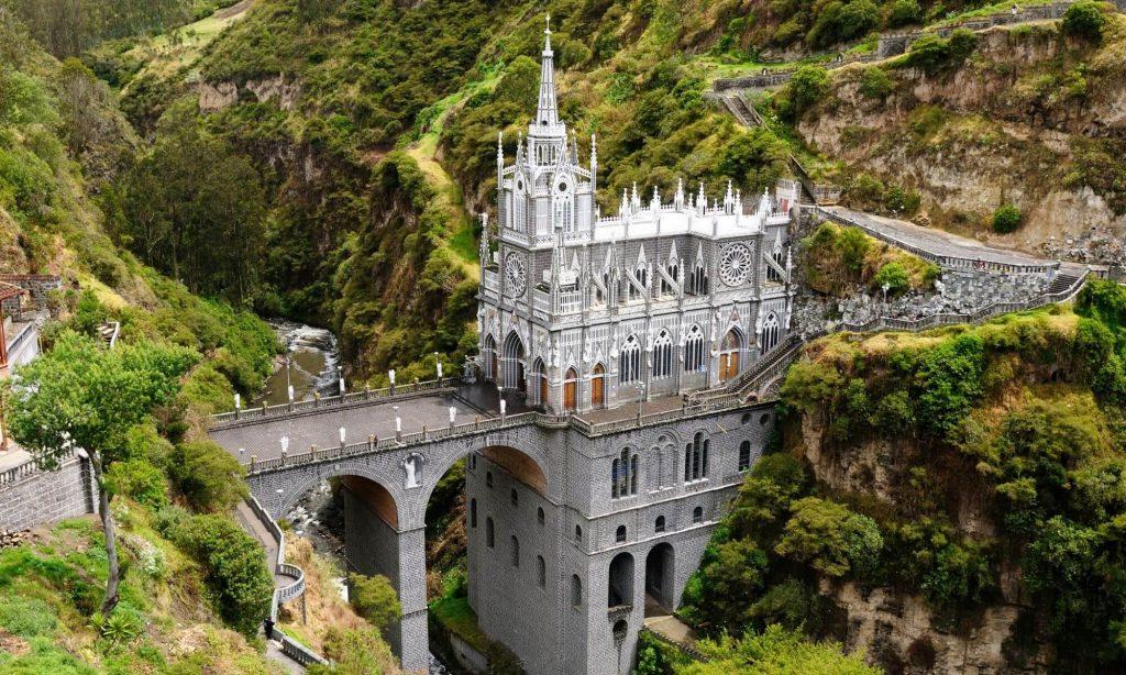 Santuario de Las Lajas – Nariño, Colombia – Black Platinum Gold