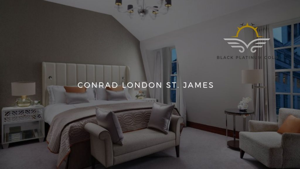 Conrad London St. James, online auctions luxury black platinum gold