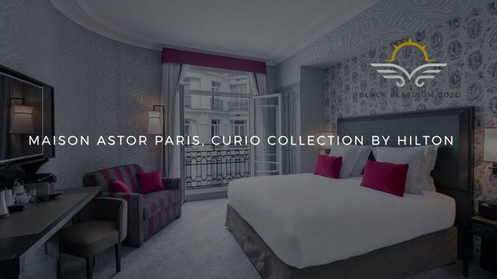 Maison Astor Paris, Curio Collection by Hilton, online auctions luxury black platinum gold